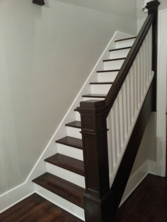 Marvelous Painted And Stained Stairs Photo 802