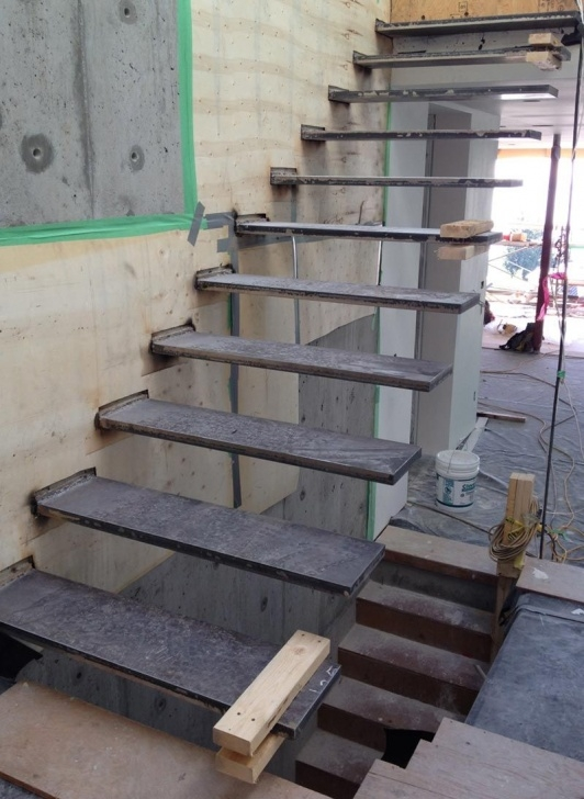 Marvelous Steel Floating Stairs Photo 830
