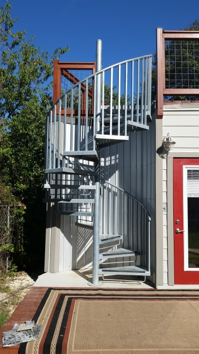 Most Creative Exterior Spiral Staircase Picture 957