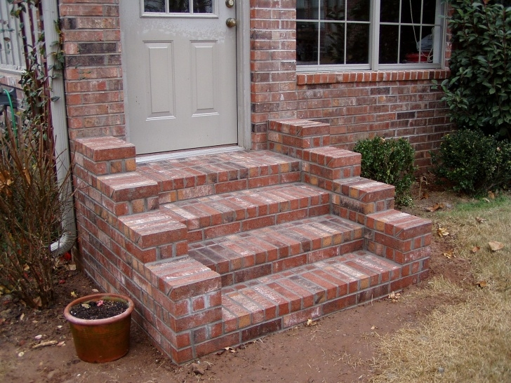 Most Creative Front Door Brick Steps Design Picture 180