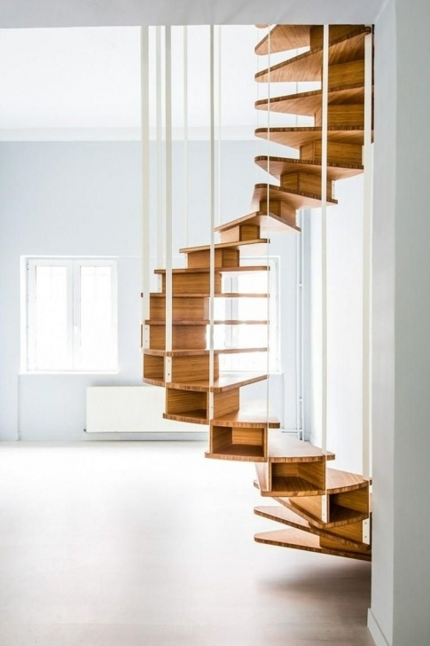 Most Creative Hanging Stairs Design Photo 674