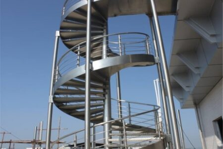 Industrial Spiral Staircase
