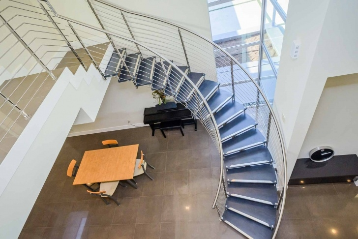 Most Creative Modern Curved Staircase Picture 112
