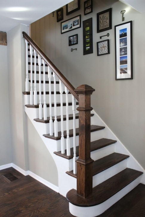 Most Creative Staining A Stair Railing Picture 889