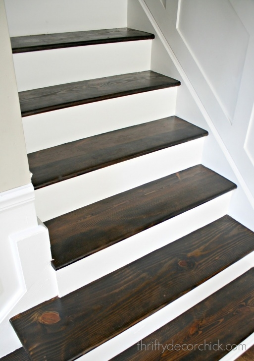 Most Creative Staining Wood Steps Photo 453