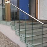 Most Creative Staircase Railing With Glass Photo 356