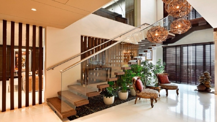 Most Creative Stairs Design For Indian Houses Photo 817