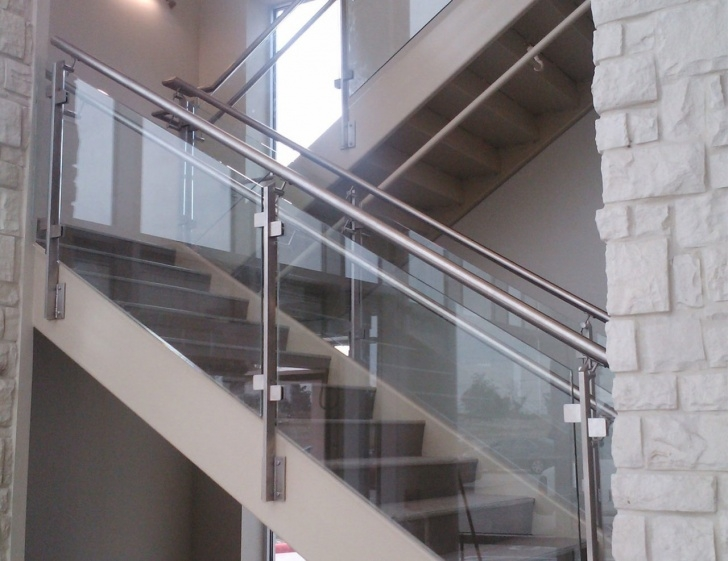 Most Creative Steel Railing For Stairs With Glass Image 519