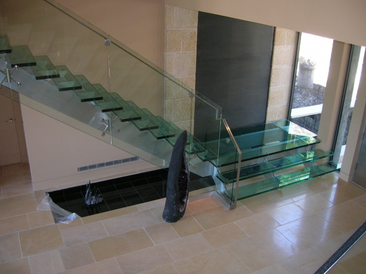 Most Perfect Glass Stair Railings Interior Image 149