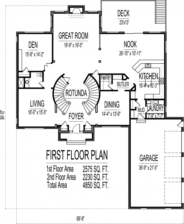 Most Perfect Round Staircase House Plans Image 492