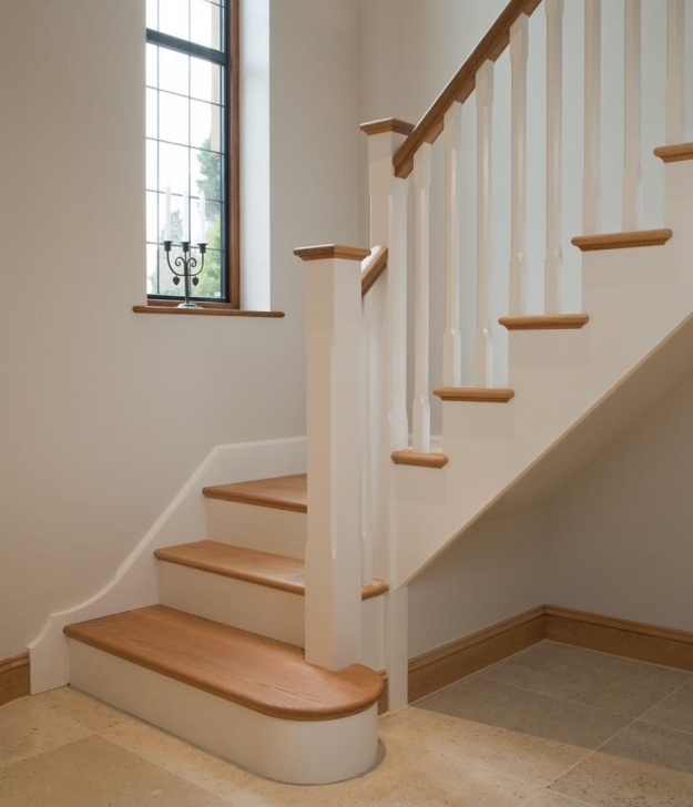 Most Perfect White Oak Stairs Image 969