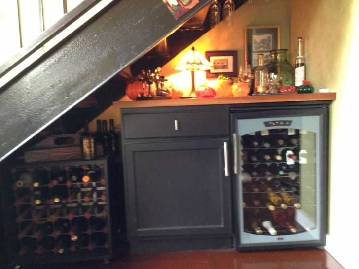 Most Perfect Wine Bar Design Under Stairs Picture 991