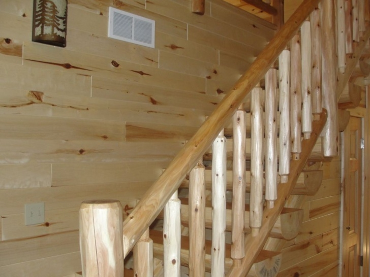 Most Popular Log Stair Railing Photo 063