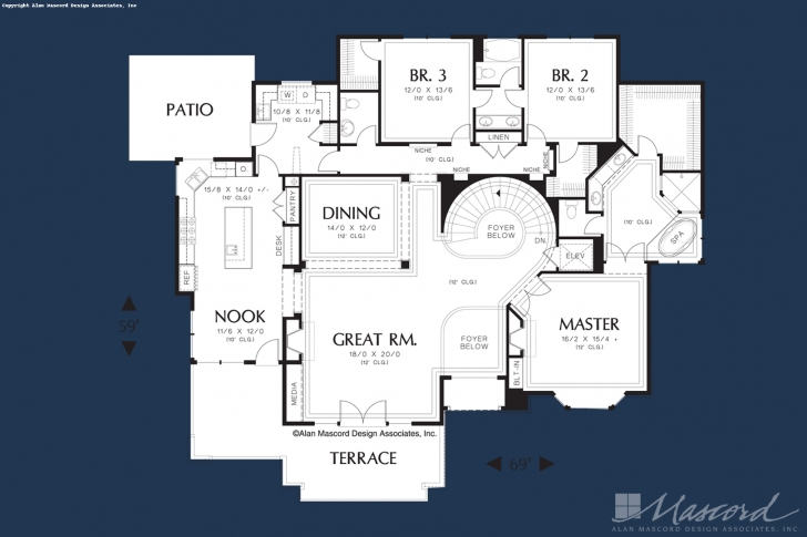 Most Popular Round Staircase House Plans Image 436