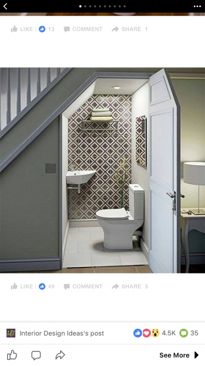 Most Popular Under Stair Toilet Design Picture 353