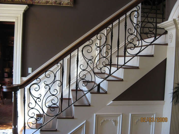 Most Popular Wrought Iron Stair Handrail Photo 072