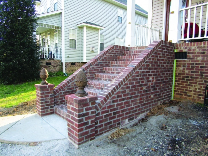 Outstanding Diy Brick Steps Outside Photo 255