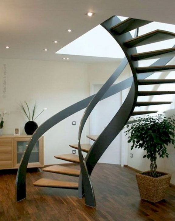 Outstanding Floating Spiral Staircase Image 990