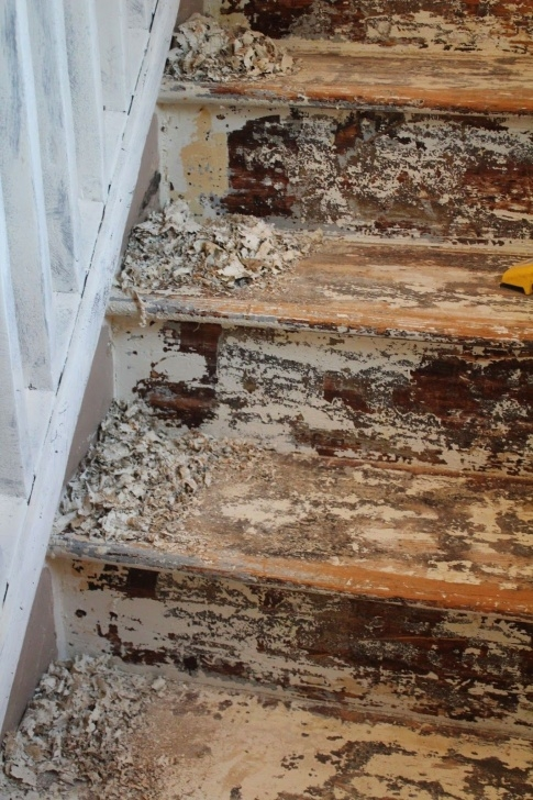 Outstanding Sanding Painted Stairs Picture 712
