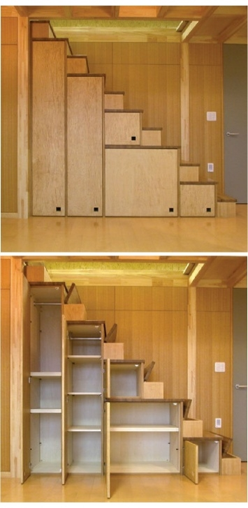 Outstanding Staircase Wardrobe Design Image 185