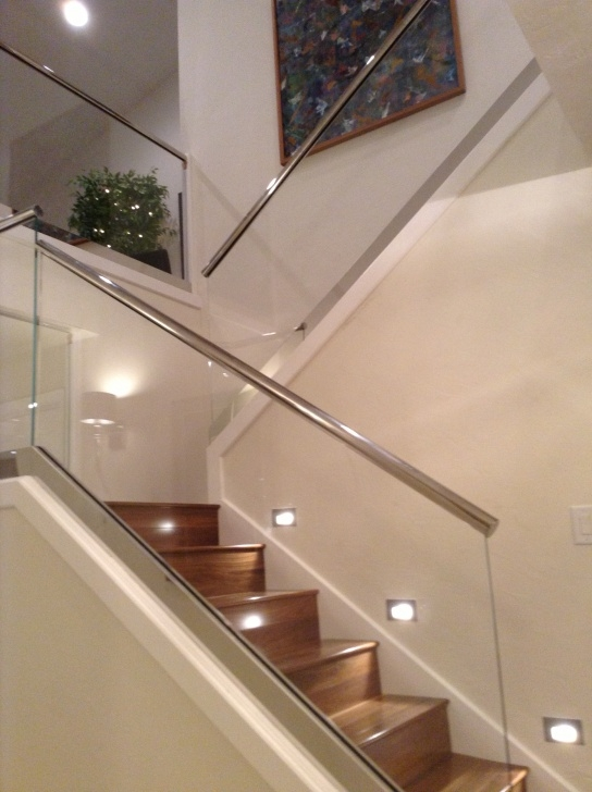 Outstanding Steps Railing Designs With Glass Image 096