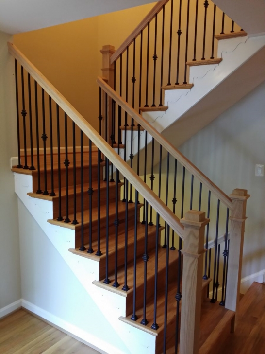 Outstanding Wrought Iron And Wood Railing Image 762