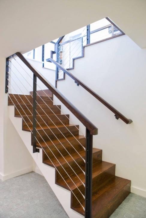 Perfect Basement Stair Handrail Image 075