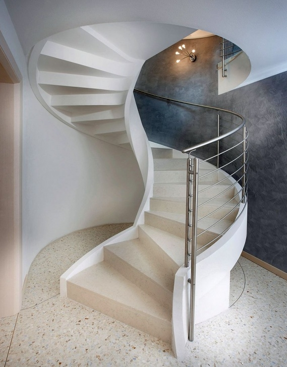 Perfect Concrete Curved Stairs Image 088