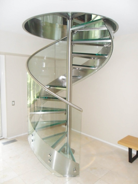 Perfect Glass Spiral Staircase Photo 184