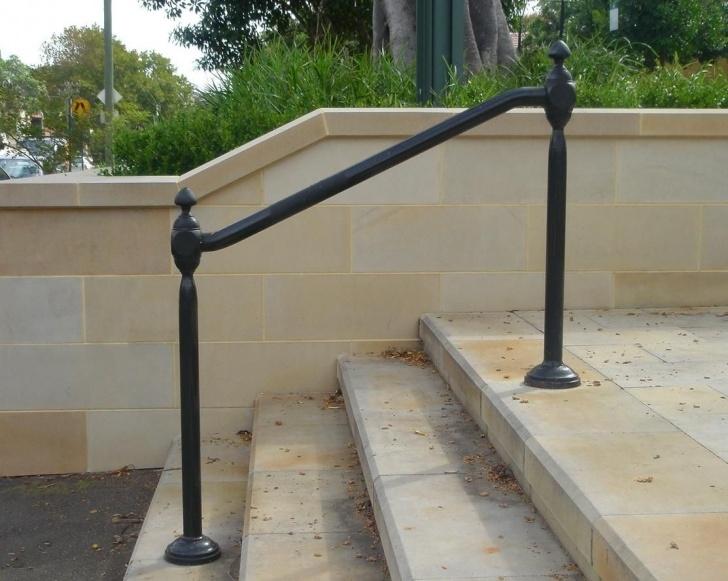 Perfect Metal Handrails For Concrete Steps Photo 126