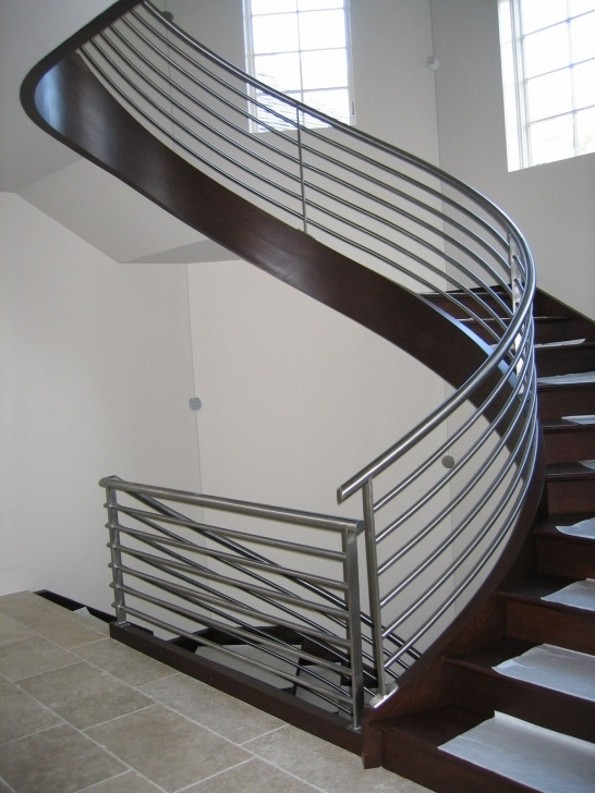 Perfect Round Stairs Railing Design Photo 568