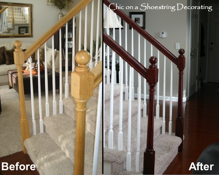 Perfect Staining A Stair Railing Photo 497