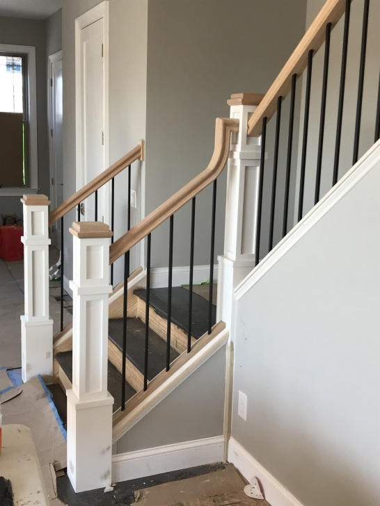 Perfect Wood And Metal Stair Railing Image 561