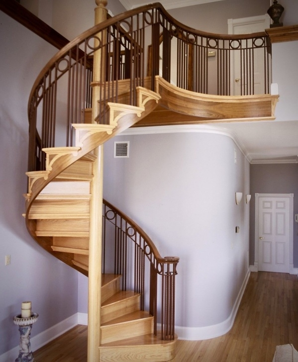 Perfect Wooden Spiral Staircase Picture 441