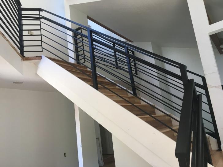 Popular Black Horizontal Stair Railing Picture 832