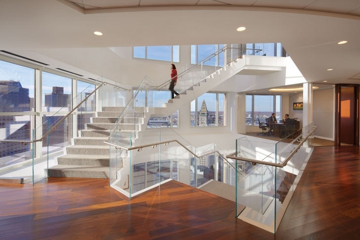 Remarkable Central Staircase Design Image 636