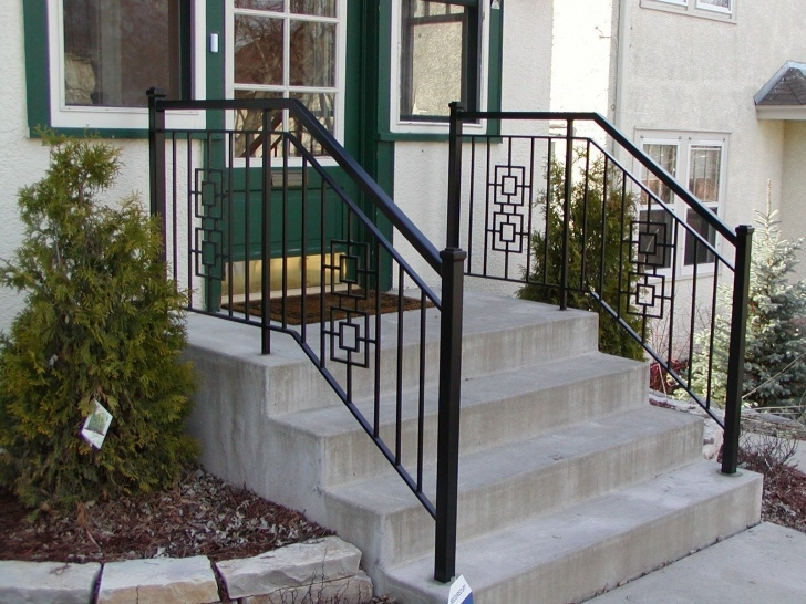Remarkable Exterior Metal Stair Railing Picture 713
