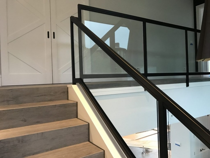 Remarkable Glass Stair Railings Interior Image 883