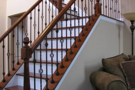 Iron Stair Railing Indoor