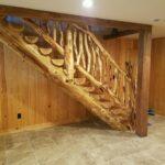 Remarkable Log Stair Railing Image 078