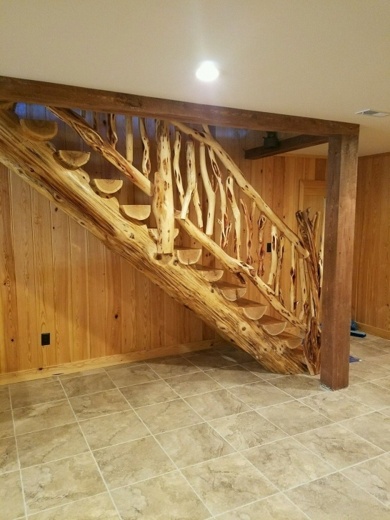 Remarkable Log Stair Railing Image 078