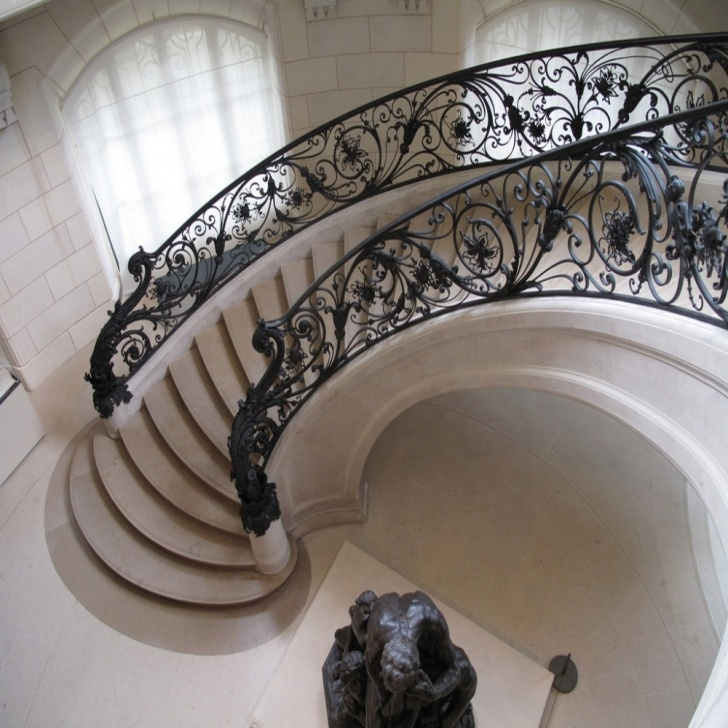 Remarkable Round Stairs Railing Design Image 724