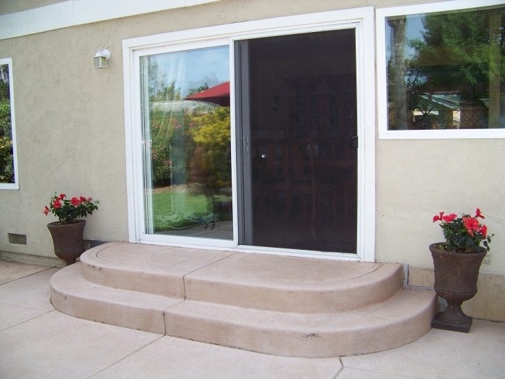 Remarkable Rounded Patio Steps Picture 037