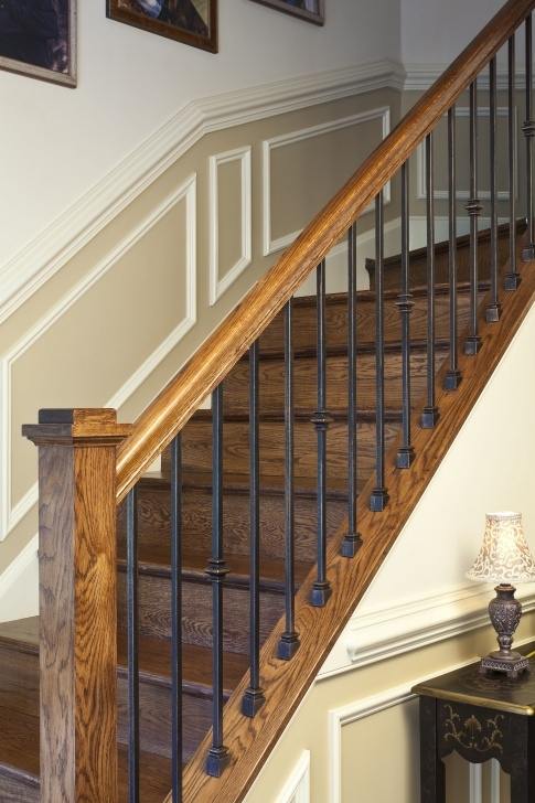 Remarkable Wood And Metal Stair Railing Photo 621