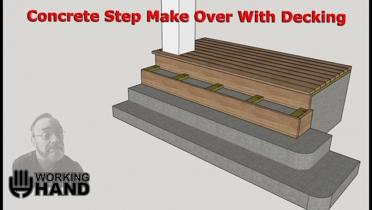 Sensational Concrete Stairs With Wood Picture 875