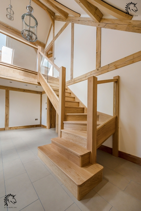 Sensational Double Winder Staircase Design Photo 286