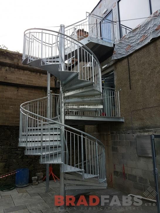 Sensational Galvanised Spiral Staircase Image 720