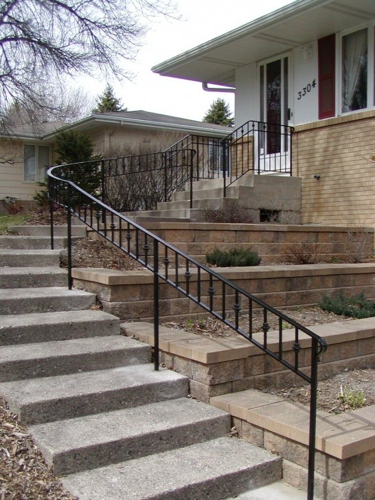Sensational Outdoor Metal Stair Railing Photo 065
