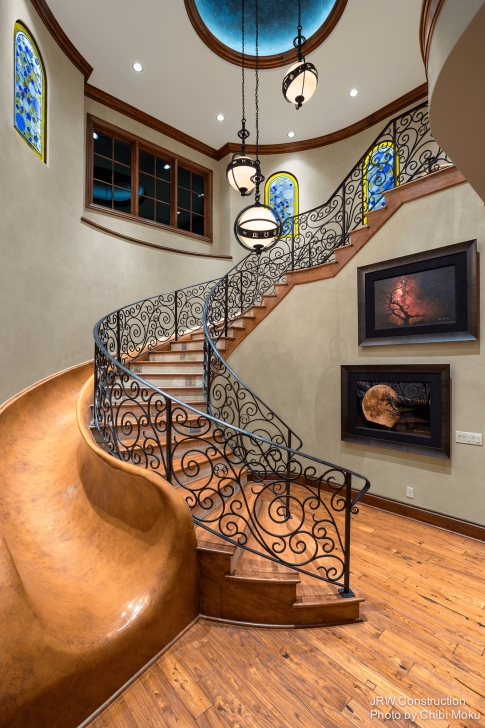 Sensational Spiral Staircase With Slide Picture 443