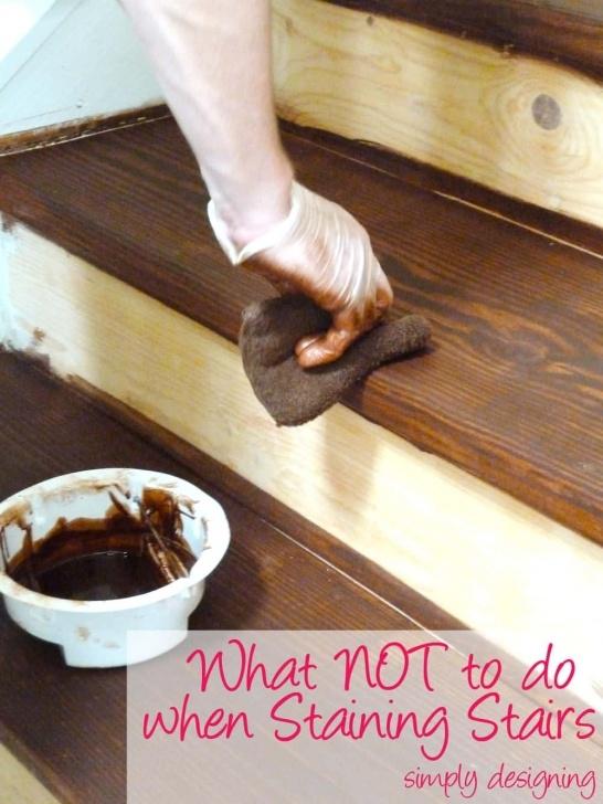 Sensational Staining Wood Stairs Photo 661